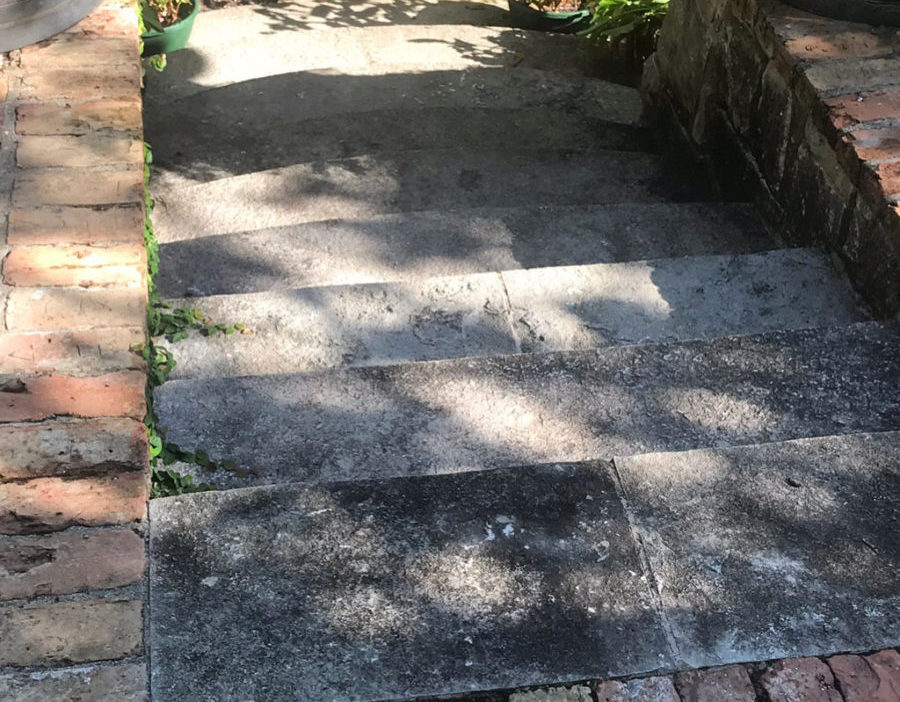 Before Concrete Cleaning Tyler TX